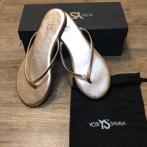 Yosi Samra Brand New Rose Gold Flip Flops - 7